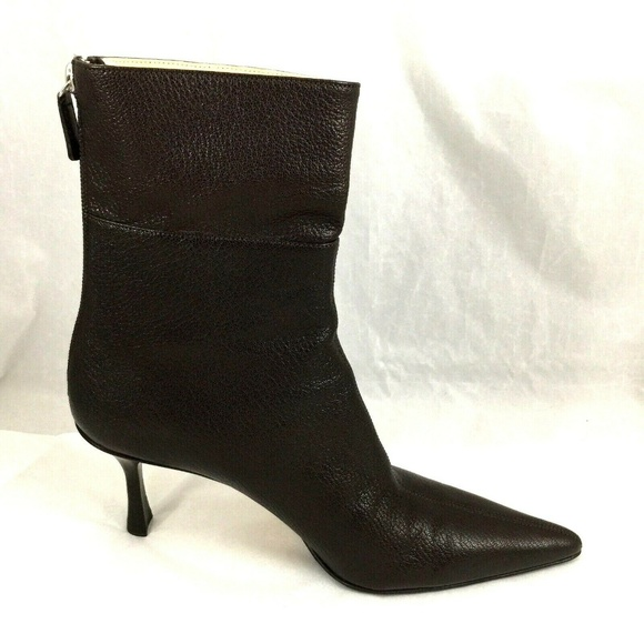 f1bafa6991 Gucci Shoes   Brown Booties Ankle Boot Leather Pointed Toe   Poshmark
